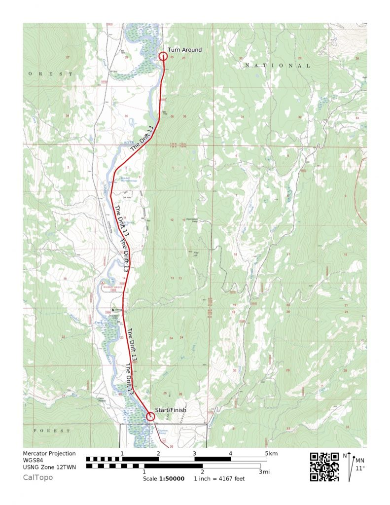 2019 13-mile course map
